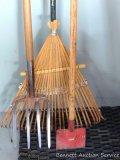Potato fork, bamboo leaf rake, edger