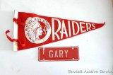Vintage felt Medford High School Raiders pennant measures 17