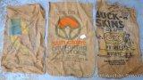 5 burlap sacks, 22
