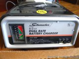 Schumacker 6/2 amp dual rate battery charger for 6 and 12 volt batteries. Works and appears in very