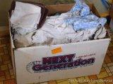 Box full of cleaning rags measures 20