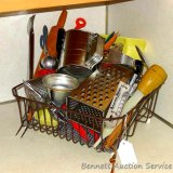 Really cool red handled ricer, Duncan Hines oven thermometer, Bromwell's sifter, wooden rolling pin,