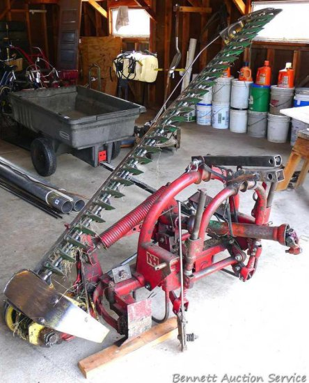 3 Point New Holland model 450 sickle mower converted to fit a John Deere 3 point system with 7 ft.