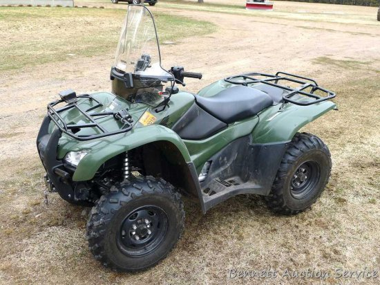 Watch the video: 2014 Honda Rancher AT ATV four-wheeler, fuel injected, winch, only 594 miles.