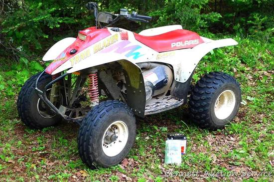1996 Polaris 250 Trailblazer ATV with electric start. Runs well and goes like a house afire. Battery