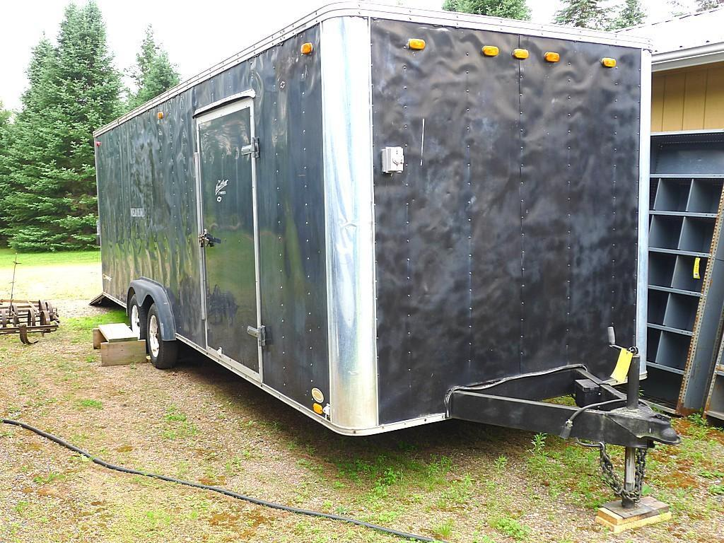 United Express Line 28 ft. tandem axle enclosed trailer. Has 7 ft. height inside, side entry door