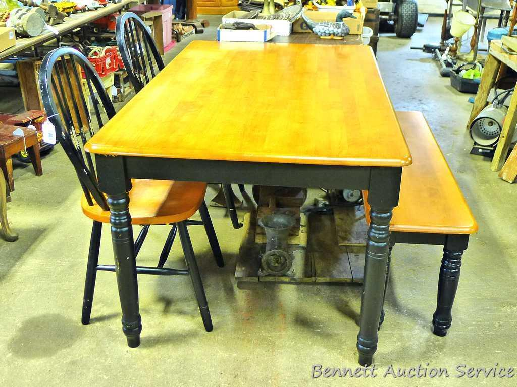 Amazing Lot Wooden Kitchen Table With 2 Chairs And A Bench Table Gmtry Best Dining Table And Chair Ideas Images Gmtryco