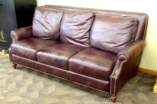comfortable leather couch soft leather comfortable leather couch is 7 41 7 auctions online proxibid
