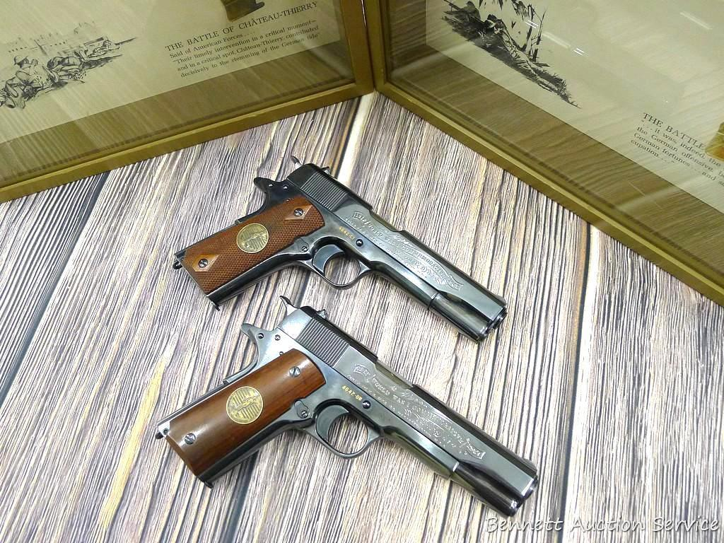 Lot: Exceptional pair of Colt 1911 pistols with matching serial