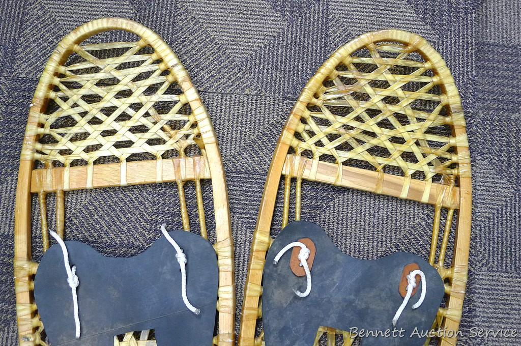 "Has Nice pair of snowshoes, 48"" x 11-1/2""."