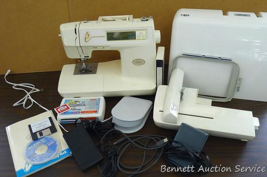 Allure computerized embroidery sewing machine, Model ESL by Baby Lock with accessories. Manual is