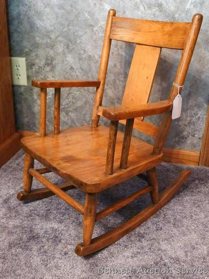 Antique homemade child's rocking chair