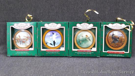 "Hallmark Collector's Series bird ornaments are about 3"" wide. From the Holiday Wildlife Series.."