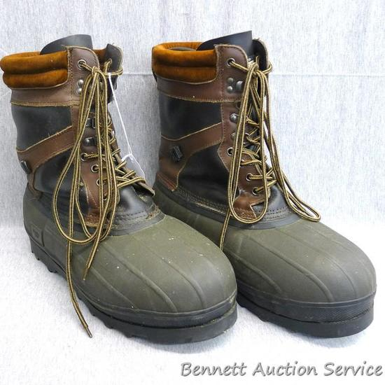"Guide Gear insulated men's winter boots are size 11"". Boots have steel shanks and removable liners."