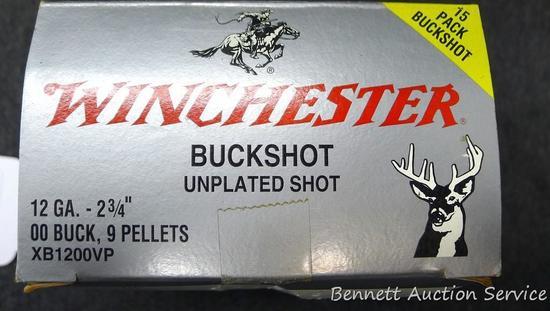 Winchester 12 GA. Buckshot, 15 pack.
