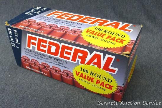 100 rounds Federal 12 gauge shot shells.