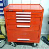 Kennedy lockable rolling tool chest measures 27