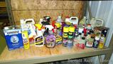No shipping. Large assortment of full and partial chemicals including Liquid Wrench, engine