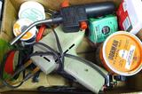 Craftsman soldering iron; BernzOMatic TS200 propane torch head; solder; flux and more.
