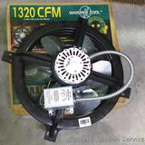 Whisper Cool Power Attic Ventilator model WCGB53319. Has 1320 CFM for attics up to 1900 square ft.