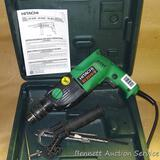 Hitachi DV20VB hammer drill comes with case, manual, bits as pictured. Tested, works.