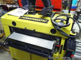 Powermatic Dual Drum Sander Model DDS225 on a rolling cart. Has 4