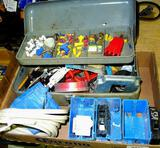 Misc. electrical supplies including outlets, boxes, breakers, wire nuts and more.
