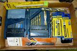 Assorted drill bits including masonry bits by Triumph & Stanley, some new in package Irwin bits;