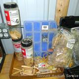 Assorted wooden pegs; biscuits; dowel pins and more.