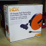 HDX 16 gauge retracting cord reel with Triple Tap.