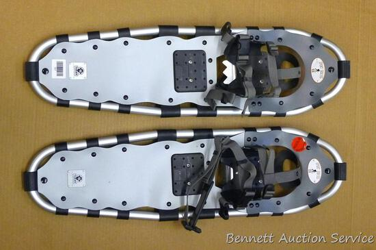 "Yukon Charlie's Sport Series 930 aluminum framed snowshoes are 9"" x 30"" and appear in nice"
