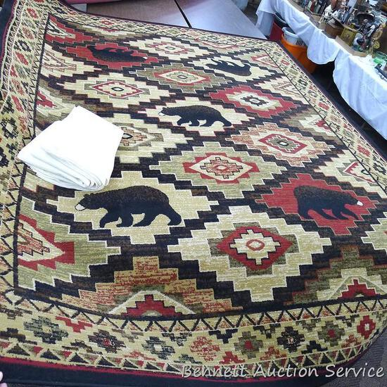 American Destination Collection area rug in nice shape. 8' x 10' in size. Boone (Northwoods) design