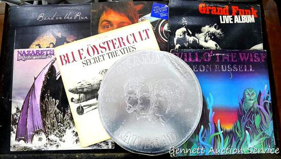 Record Albums including Band on the Run, Blue Oyster Cult, Grand Funk, Paul McCartney, Nazareth and