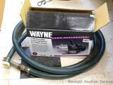 NIP Wayne 1 hp lawn sprinkler & utility pump with hose.