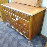 Antique four drawer dresser, 20