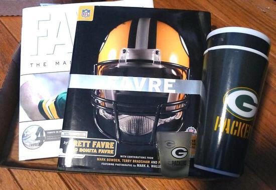 Favre The Man - The Legend 174 pgs. with Tribute CD inside; Favre 245 pgs. by Brett & Bonita Favre