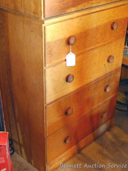"Little four drawer dresser is in good condition. Measures 36"" high x 28"" wide x 15"" deep. Matches"