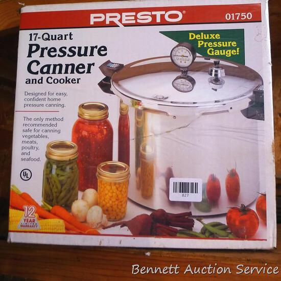 Presto 17 quart pressure canner with original box.