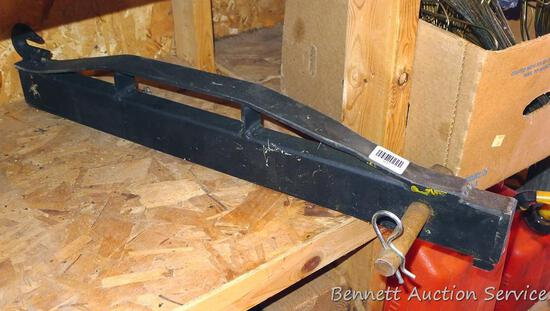"Heavy duty lift bar with chain grab hook is 2' 8"" long with a 1"" cross bolt."
