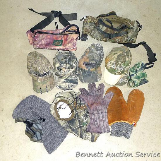 Camo Fieldline fanny pack with several pockets; single pocket fanny pack from Mad Dog Gear; 4 camo