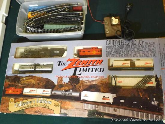 HO trains and parts including Zenith Limited Edition set.