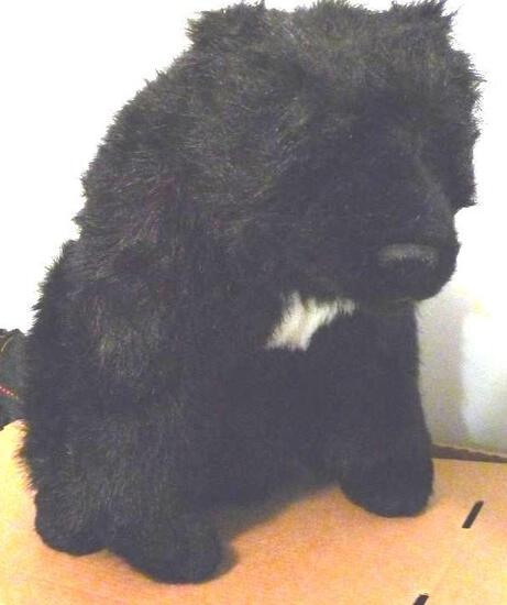 """Stuffed bear is 16"""" and has a white chest."""
