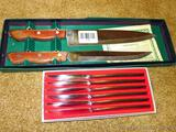 Japanese knife set in presentation box, longest knife is 14