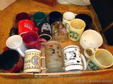 Collection of Native American themed  mugs up to 6