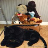 Assortment of newer and older stuffed animals. Black panther is 21