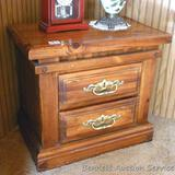 Very nice 2 drawer night stand is 27
