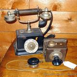 Antique telephone is 10