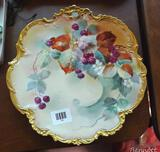 Hand painted Limoges French display platter is 12