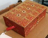 Hand embroidered Indian box with lift out tray is 10