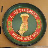 A. Gettelman of Milwaukee, Wis. bar serving beer tray is 13